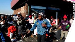Violence against immigrants broke out in South Africa Sunday and has sparked angry reactions across the continent.