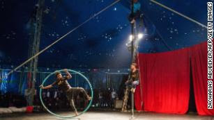 Fekat Circus performs during the second edition of the African Circus Arts Festival in Addis Ababa, on March 2, 2018.