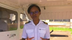 Refilwe Ledwaba is a pilot, a flying instructor and an advocate for women's rights in South Africa